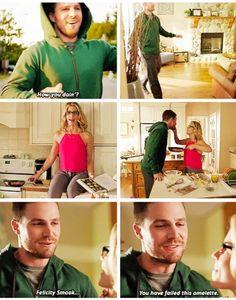 Look at Oliver. Thinking he's funny. | Season 4 sneak peek #Olicity #Arrow
