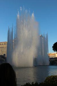 fountain show at the Bellagio