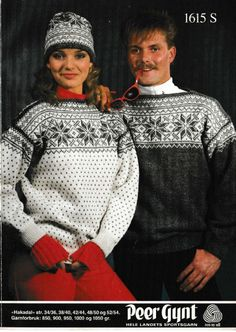 Hakadal 1615 S Norwegian Knitting, Sweater Knitting Patterns, Nordic Design, Vintage Knitting, Double Knitting, Vintage Sweaters, Crochet Clothes, Christmas Sweaters, Knit Crochet