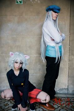 Hunter X Hunter - Neferpitou and Kite cosplay