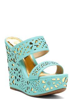 Elegant Footwear Puntie Double Strap Wedge Sandal on HauteLook