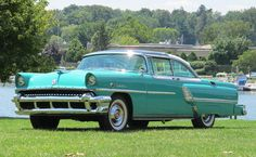 1955 Mercury Montclair Sun Valley.  Note the air intakes on the rear fenders for the trunk mounted air conditioning.