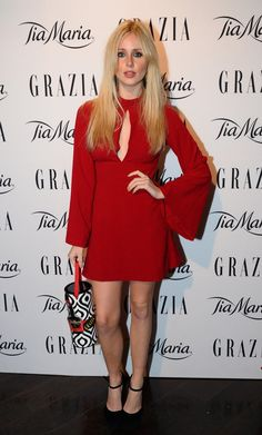 Pin for Later: Let These Ladies in Red Inspire Your Valentine's Day Look Diana Vickers