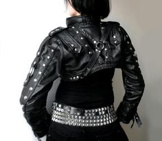 Dream Warriors black leather overbust bolero / by DreamWarriors