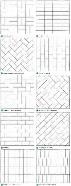 subway tile pattern samples More