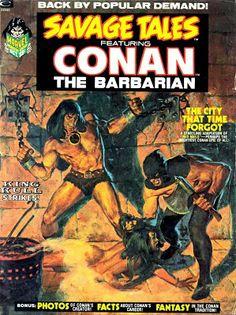 The Glass Walking-Stick: Comics 1973. Savage Tales. Conan. Cover by John Buscema.
