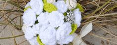 Crochet Bridal Flowers- Bridal Bouquet and Boutonniere