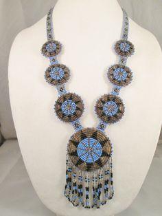 Boho Ethnic Tribal Southwestern Beaded Necklace #badtique#southwesternnecklace#seedbeadnecklace $74.85