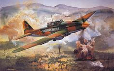 World War II Fighter Art - Soviet