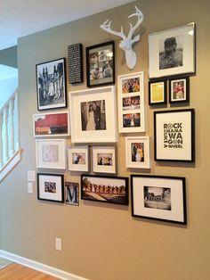 living room gallery wall created using me  my big ideas diy gallery