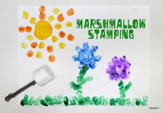 Marshmallow Painting Craft for Preschoolers