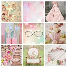 Pastel wedding mood board