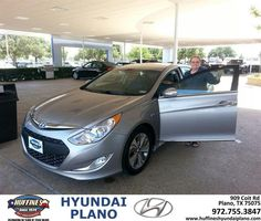 #HappyAnniversary to Barbara Wright on your 2013 #Hyundai #Sonata Hybrid from Frank White at Huffines Hyundai Plano!