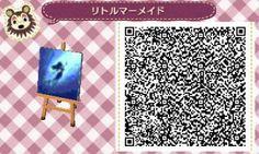 Little Mermaid Pattern Animal Crossing New Leaf Qr Code