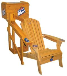 """Today in 2005, US Patent D503550 S1 was issued, an invention of Brian Miesieski, Devin Kelly, and Geoff Blanck, assigned to Labatt Brewing Company Ltd, for their """"Combined Beer Dispensing Cooler and Lawn Chair."""" There's no Abstract, which is unusual for such a recent patent. The patent application merely lists the seven submitted drawings of …"""