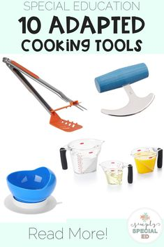 10 Adapted Tools for Cooking in the Classroom - Simply Special Ed Cooking In The Classroom, Teaching Special Education, Cooking Tools, Cooking Ideas, Special Needs Students, Middle School Classroom, Making Life Easier, Teacher Hacks, Fine Motor Skills