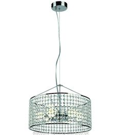 Have a look at this LED 6 Arm Ceiling Light in Chrome Finish with Crystal Shade page from the LED Ceiling Lights department at Discount Lighting Store