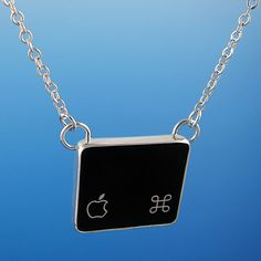 Silver Command Key, Computer Key Necklace by Creative Dexterity