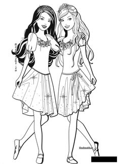 Barbie Coloring Pages, Cute Coloring Pages, Free Printable Coloring Pages, Coloring For Kids, Adult Coloring Pages, Coloring Books, Human Drawing, Princess Drawings, Ben 10