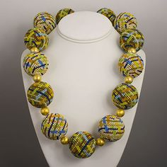 by Elaine Felhandler & Sue Steeneken - FS Design   Beaded Bead & Vermeil Necklace made with 11/0 rocaille glass beads by Toho & Miyuki. This design was inspired by Viennese Secessionist beade...