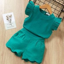 Jun 2019 - Kids Girls Clothing Sets Summer New Style Brand Baby Girls Clothes short Sleeve T-Shirt+Pant Dress Children Clothes Suits Girls Summer Outfits, Dresses Kids Girl, Baby Outfits, Short Outfits, Kids Outfits, Dress Girl, Winter Outfits, Baby Dress Design, Girl Sleeves