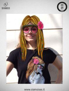 Fantastica la nostra #hippie by @alecstore! Nera donna con la realtà aumentata! :)