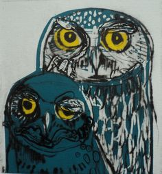 owl and owlet by Mika Lovre
