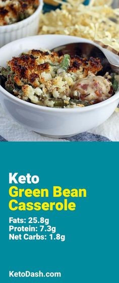 Trying this Green Bean Casserole and it is delicious. What a great keto recipe. #keto #ketorecipes #lowcarb #lowcarbrecipes #healthyeating #healthyrecipes #diabeticfriendly #lowcarbdiet #ketodiet #ketogenicdiet