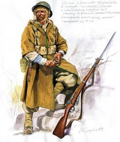 Goumier 1944 - pin by Paolo Marzioli Military Diorama, Military Art, Military History, Ww2 Uniforms, Military Uniforms, Imperial Army, French Colonial, Army Uniform, British Soldier