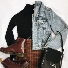 69 popular black turtleneck outfit ideas for fall and winter this year vintage outfits 50 Cute Casual Outfits, Retro Outfits, Grunge Outfits, Vintage Outfits, Plaid Outfits, Classic Outfits, Outfits With Turtlenecks, Vintage Fashion, Simple Edgy Outfits