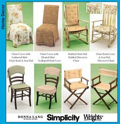 Easy Chair Cover Pattern Simplicity 5952 Designer By Ucanmakethis.  Directoru0027s ...