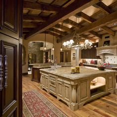 Love the beams on the ceiling