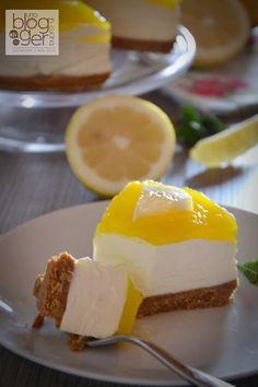 cheesecake al limone nuove (5) Biscotti, Cheesecakes, Nutella, Sweet Recipes, Yogurt, Easy, Buffet, Sweet Treats, Deserts