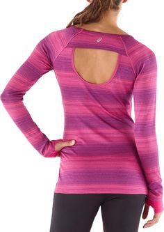 ASICS Izu T-Shirt. Wear it out for a run or even out on the town! The open back gives it a fun, flirty feel.