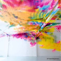 colorfull non-objective instillations by Katharina Grosse