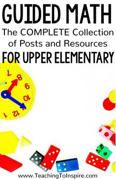 Guided math allows teachers to meet the needs of all of their learners. This collection of posts and resources will help you implement guided math in your classroom! Math Tutor, Teaching Math, Elementary Teaching, Upper Elementary, Maths, Teaching Ideas, Math Binder, Math Made Easy, Guided Math Groups