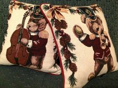 Vintage Christmas Pillows Dakotah Decorative Accent Pillows Christmas Decoration  Christmas Bears