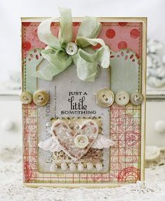 Shabby Chic - would make a gorgeous card (if you wanted to put that much effort into one!) or a beautiful wall hanging.