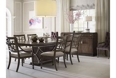 This Drexel Heritage Valmoral Dining Room is bold and classic, full of little details that perfectly complete a full picture of sophistication. FInd beautiful Drexel Heritage furniture like this at West Coast Living!