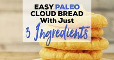 This Paleo cloud bread is quick to make and will easily become your favorite Paleo sandwich fixin.