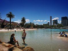 public beach at South Banks, Brisbane, Australia  #hapakuna