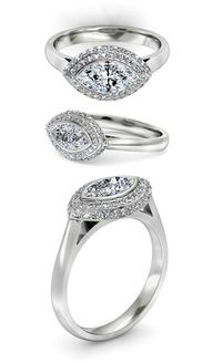 Slight lift to allow light to enter but not high enough to catch or snag, thicker band would mean no separate wedding band or could wear anniversary band, love the double row of diamonds Antique Rings, Vintage Rings, Vintage Jewelry, Bling Wedding, Wedding Rings, Wedding Band, Marquise Diamond, Marquise Cut, Unique Diamond Rings