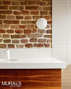 Easier to install and clean than real brick, these faux brick murals go up like wallpaper and look great. It's going to be hard to choose just one.