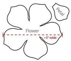 Image result for Large 5 Petal Flower Template