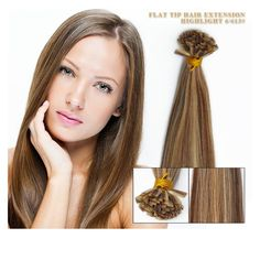 YONNA Flat Tip Hair Extension Highlight Colour p6/613 1g/pcs 100pcs/set Straight Karetin Pre Bonded Human Hair Extensions 20 inch -- This is an Amazon Affiliate link. More info could be found at the image url.