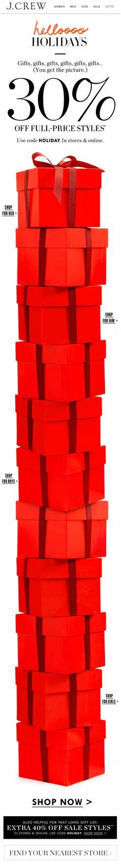J.CREW : Gifting + LONG Scroll
