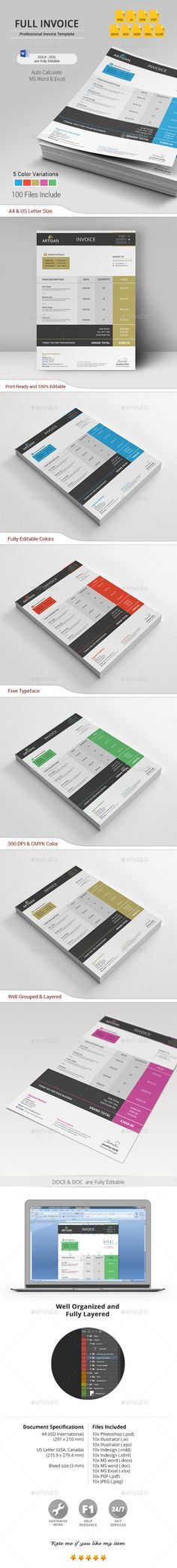 #Invoice - #Proposals & Invoices Stationery Download here: https://graphicriver.net/item/invoice/19554591?ref=alena994