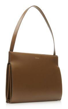 Journal Leather Shoulder Bag by Jil Sander Calf Leather, Leather Shoulder Bag, Leather Bag, Jute Bags, Celine Bag, Leather Journal, Jil Sander, Leather Handbags, Leather Backpack