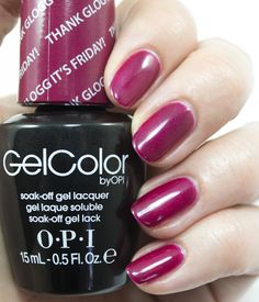 OPI GelColor Fall/Winter 2014 Nordic Collection - Thank Glogg It's Friday!