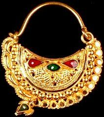 Nath | Ethnic Jewels Magazine A nath is a piece of jewellery used in India which is worn through a piercing in the nose. Nath are worn extensively by Indian women, however the tradition is likely to have originated in the Middle East, it is likely that the Mughuls brought the nath to India.